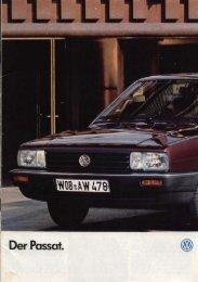 Katalog Passat Sedan 1986 - VW Passat