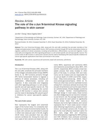 Review Article The role of the c-Jun N-terminal Kinase signaling ...