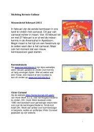 Stichting Kermis-Cultuur Nieuwsbrief februari 2011 In ... - Hullygully.nl