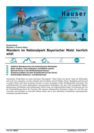 Wandern im Nationalpark Bayerischer Wald ... - Hauser exkursionen