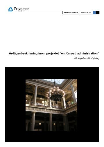 """Är-lägesbeskrivning inom projektet """"en förnyad ... - Lunds universitet"""