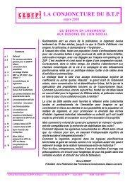 Tendances en mars 2010 - Cellule Économique du Bâtiment et des ...