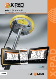 X•PAD für Android - Geomax Positioning