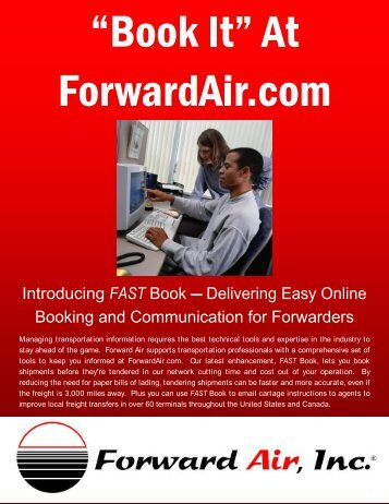 FAST Booking And Communication For Forwarders - Forward Air ...