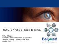 ISO DTS 17665-3 : l'idée de génie?