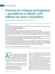 Enurese em crianças portuguesas - Associação Portuguesa de ...