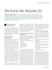 Die Kunst der Akquise II - dieBank - die Basis