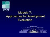 Module 7: Approaches to Development Evaluation