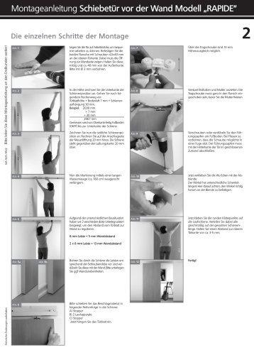 montageanleitung schiebet relemente se i vor der wand laufend. Black Bedroom Furniture Sets. Home Design Ideas