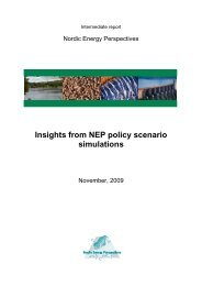 Insights from NEP policy scenario simulations