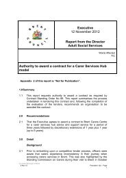 Carers Services Hub Model PDF 130 KB - Brent Council