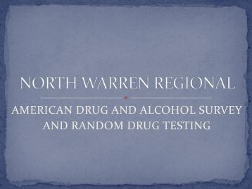 America Drug and Alcohol Survey Executive Summary Results and ...