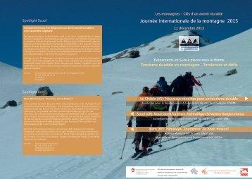 Journée internationale de la montagne 2013 - Tourobs.ch