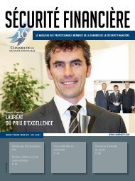 Vol. 35 - No 1 - Chambre de la sécurité financière