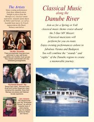 Classical Music Danube River - Euro River Cruises