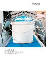 Ultraviolet Light for Industrial Food Processing ... - Heraeus Noblelight