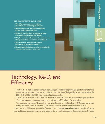 Technology, R&D, and Efficiency - McGraw-Hill Higher Education
