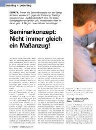 Seminarkonzept - Dr. Kraus & Partner