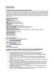 Nome dell'Ente Breve descrizione delle attività ... - Q-AGEING project