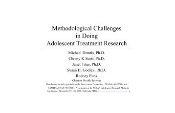 Methodological Challenges in Doing Adolescent Treatment Research