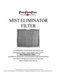 MIST ELIMINATOR FILTER - Precision Filtration Products