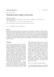 Measuring the surface roughness of stream stones - Springer