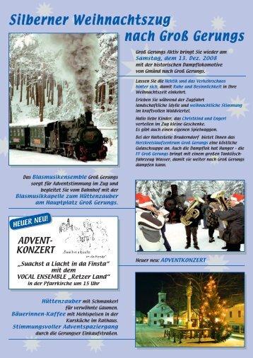 Silberner Weihnachtszug nach Groß Gerungs - Waldviertlerbahn