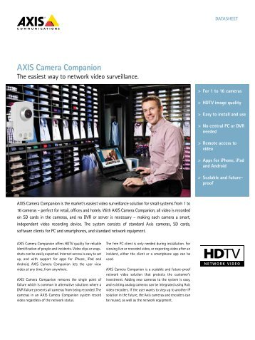 AXIS Camera Companion - IP Way