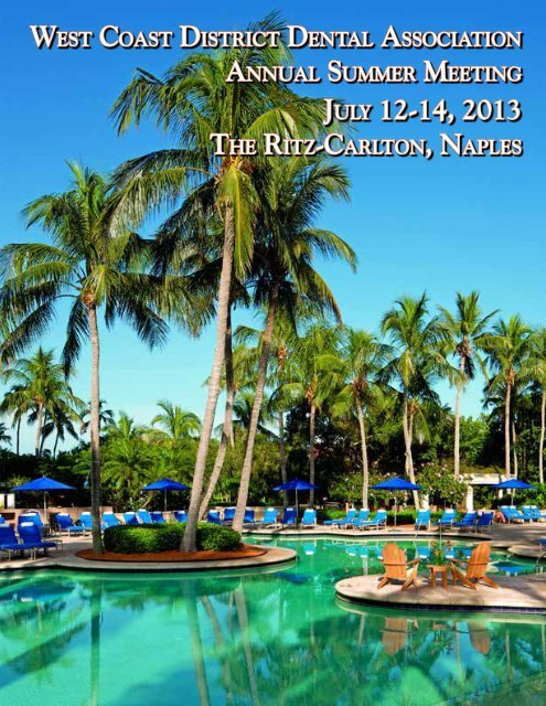 2013 Summer Meeting Brochure - West Coast Dental Association