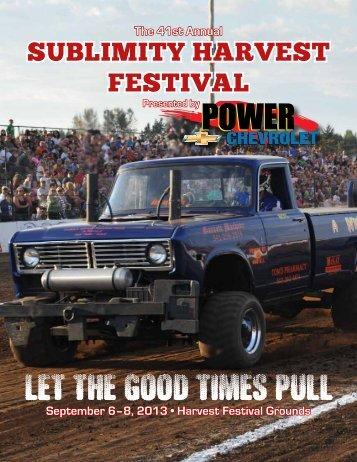 Download Event Program - Sublimity Harvest Festival