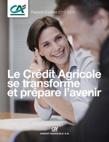 Le Crédit Agricole se transforme et prépare l'avenir