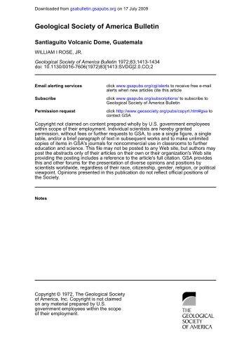 Geological Society of America Bulletin - Geological & Mining ...