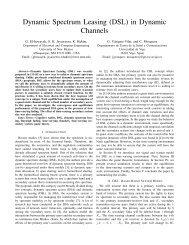 Dynamic Spectrum Leasing (DSL) in Dynamic Channels