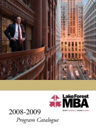 2008-2009 - Lake Forest Graduate School of Management