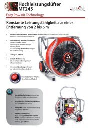 Dokumentation MT245 Easy Pow'Air Technologie - Leader