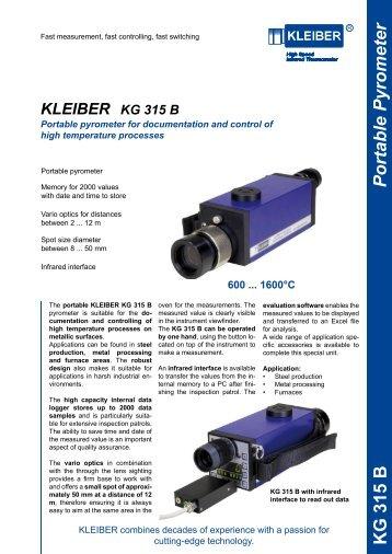 Portable Pyrometer KG 315 B - Delta Strumenti S.r.l.