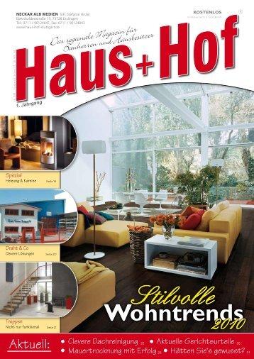 Liebe Leserin, lieber Leser - Haus+Hof Stuttgart