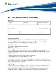 Boka Prov - Ansökan och avtal för användare