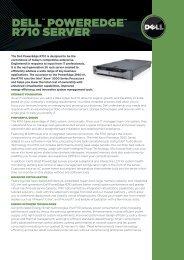 "dellâ""¢ Poweredgeâ""¢ r710 SerVer - Starnet Data Design, Inc"