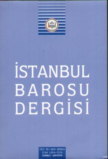 dergısı - İstanbul Barosu