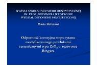 Odporność korozyjna stopu tytanu modyfikowanego ... - Esco.pl