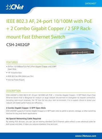 CSH-2402GP Datasheets - CNet