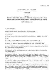 Le 5 janvier 2010 JORF n°0303 du 31 décembre 2009 ... - Globenet