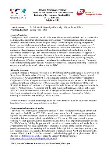 Applied research methods professional development