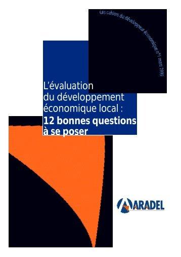 L'évaluation du développement économique local, 12 ... - Globenet