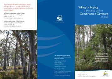 Selling or buying a property with a Conservation Covenant on title
