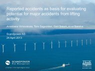 Reported accidents as basis for evaluating potential for major ...