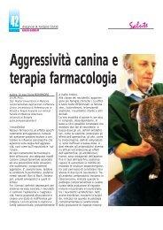 Aggressività canina e terapia farmacologia - Diagnosi e Terapia