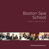 Boston Spa School Prospectus