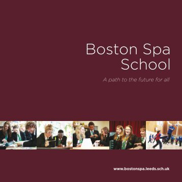 Boston Spa School Prospectus